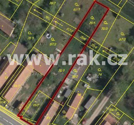 foto Pozemek kvýstavbě RD, 1.082 m2, kompletní inženýrské sítě, Dolní Roveň – Litětiny, okr. Pardubice